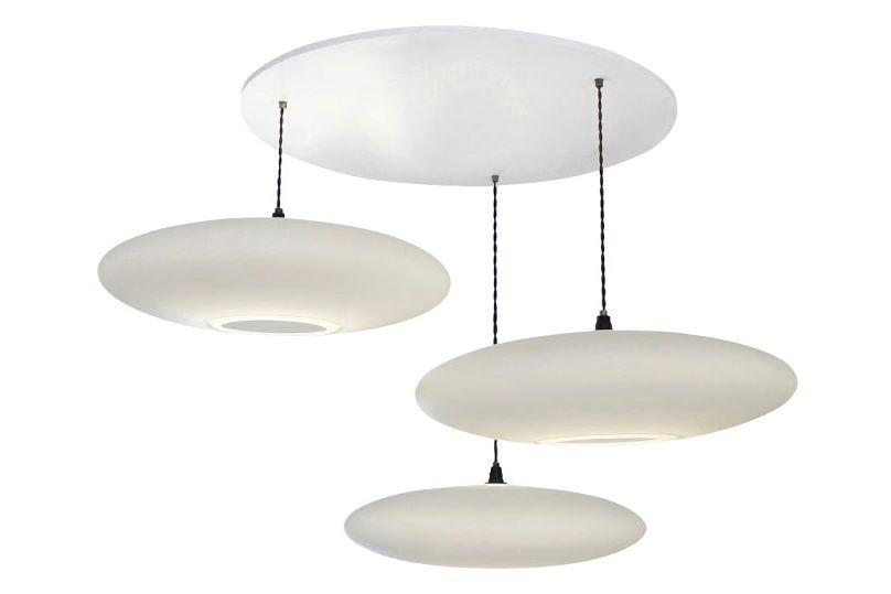 Ethel Inverse 3-Drop Pendant Light by One Foot Taller
