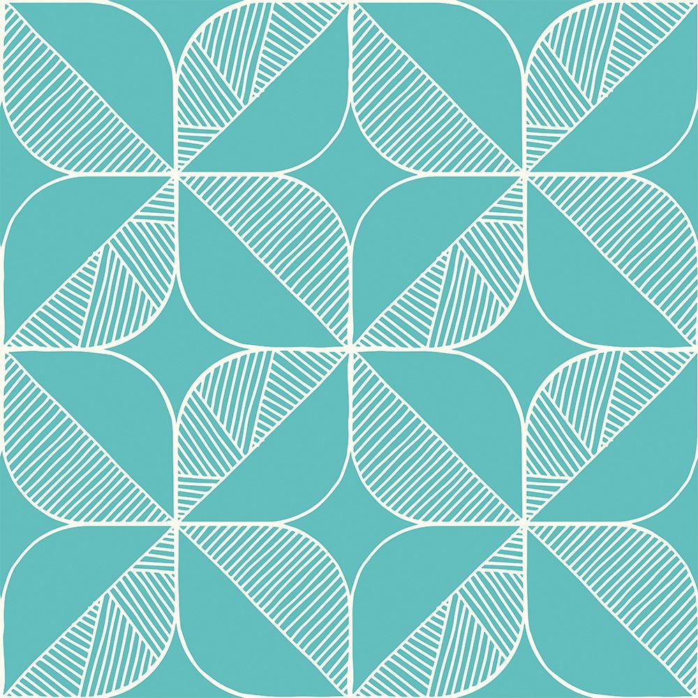 Rosette (Turquoise) Wallpaper by Sian Elin