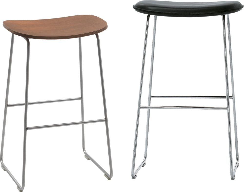 Morrison Stool Wooden Seat by Cappellini