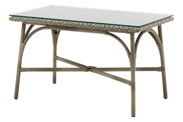 Victoria Rectangular Coffee Table with Glass Top by Sika Design