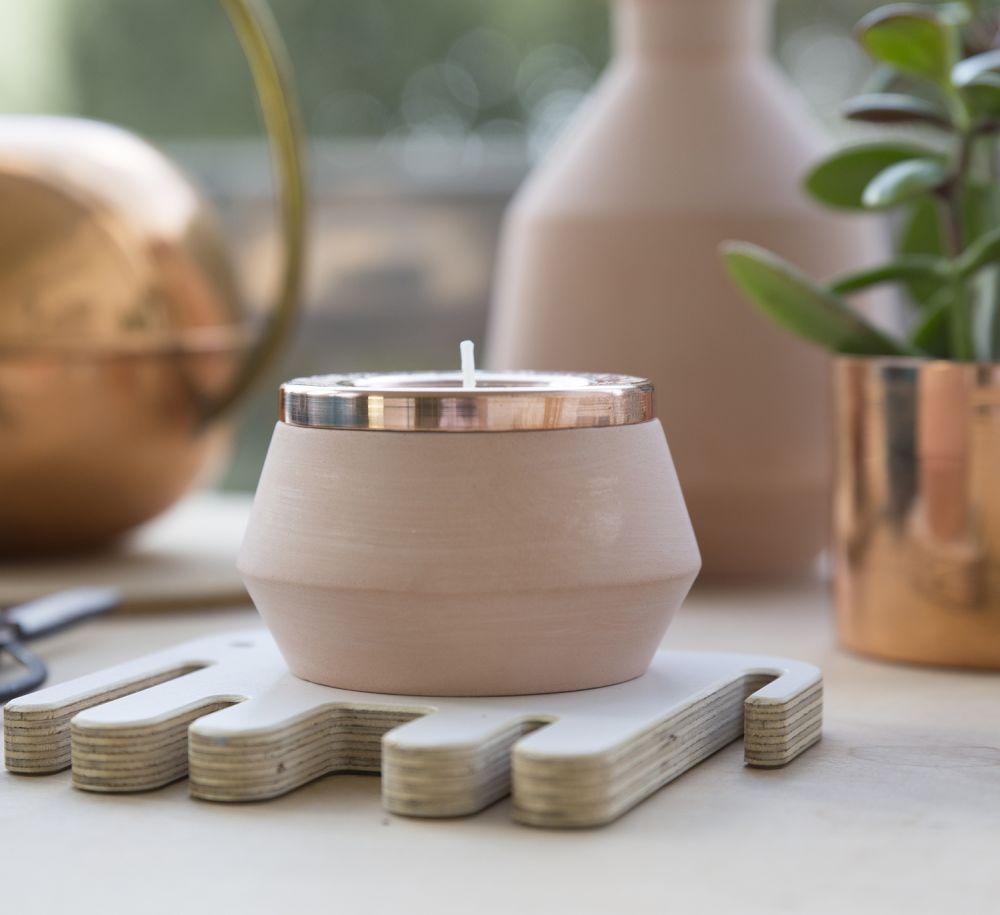 Medium Tea Light Holder by Hend Krichen