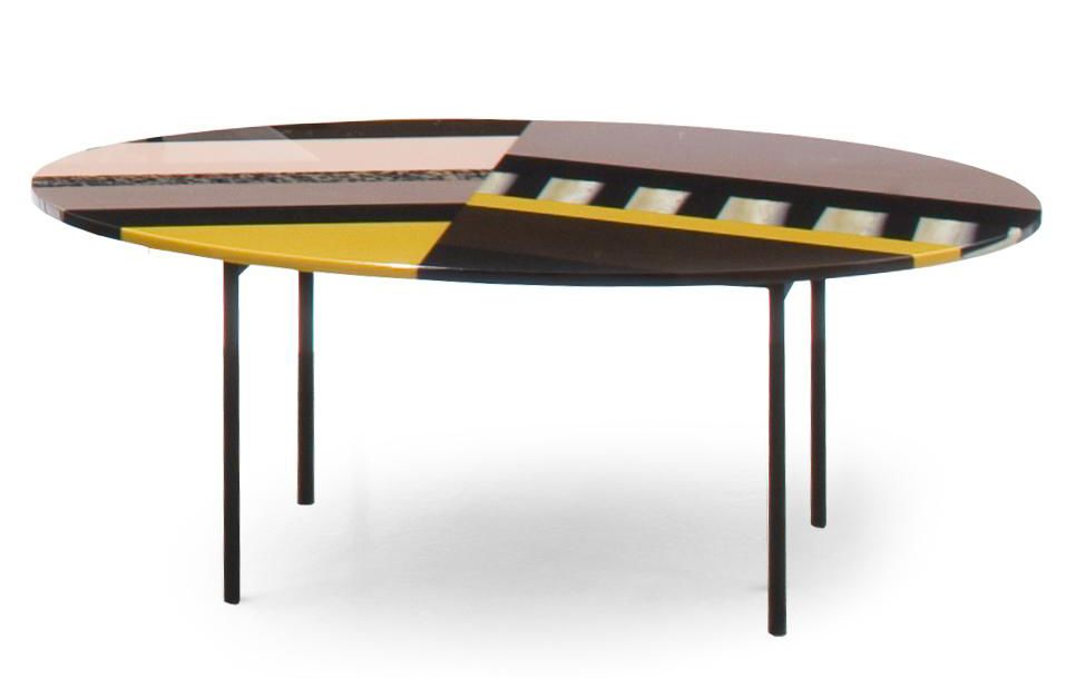 Fishbone Oval Table by Moroso