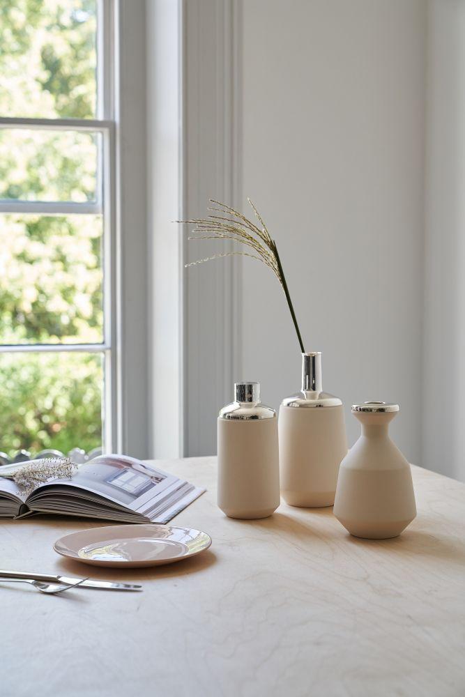 White Tall Vase by Hend Krichen