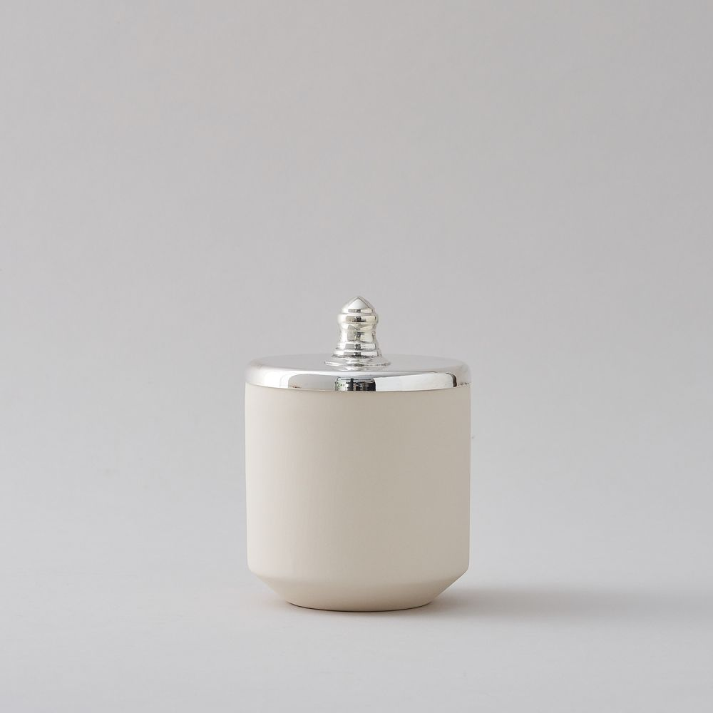 White Small Jar by Hend Krichen