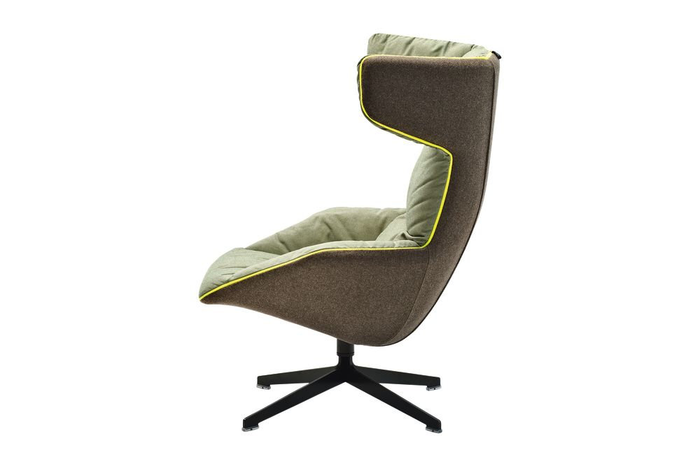 Take a Line for a Walk Armchair with Cotton Gel Quilt by Moroso