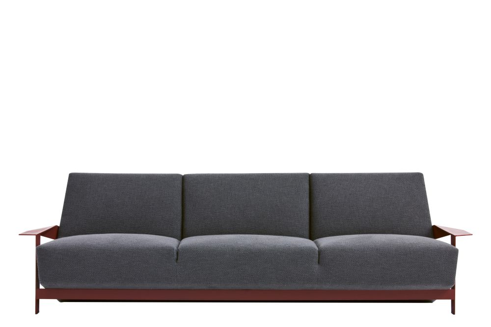 Silver Lake 3 Seater Sofa Padded Side by Moroso