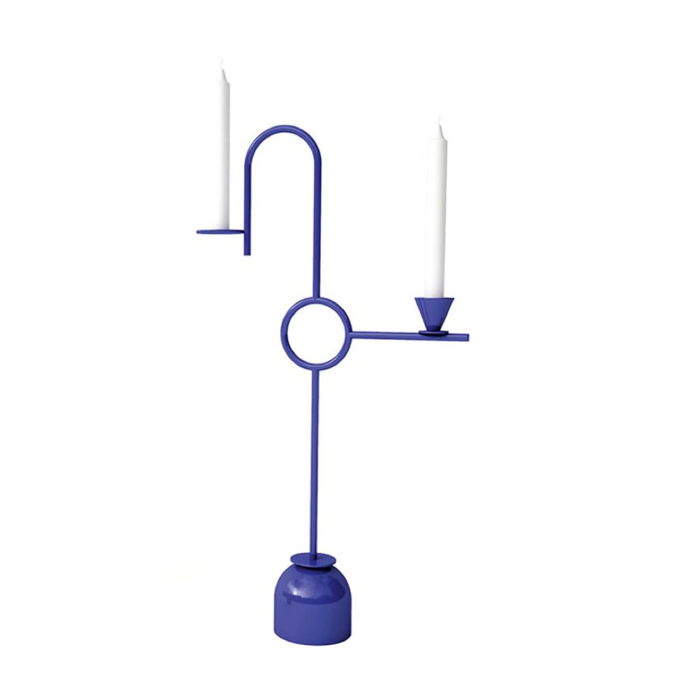 Blue Candleholders by Cappellini