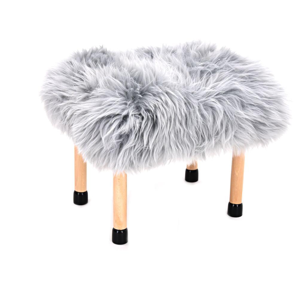 Nerys Sheepskin Footstool by Baa Stool