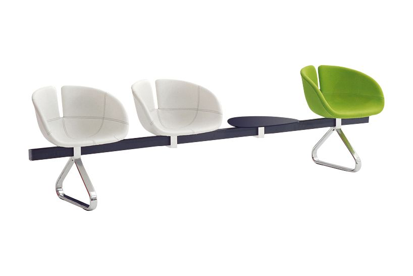Fjord Bench with 1 Table by Moroso