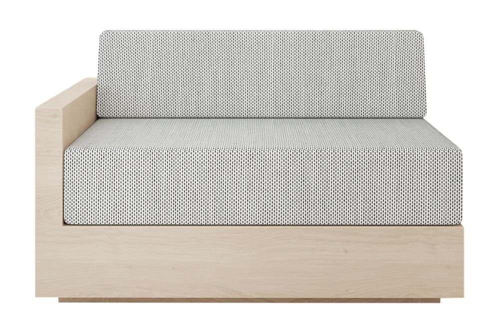 Mass Wide Left Arm Sofa by New Works