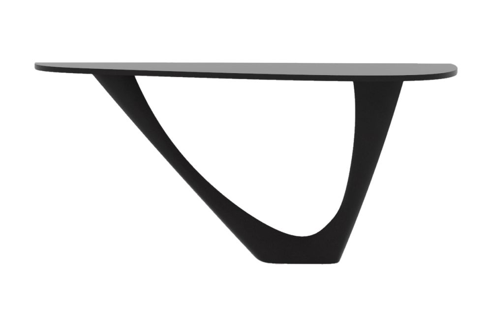 G-Console Mono Table with Powder Coated Top and Base by Zieta