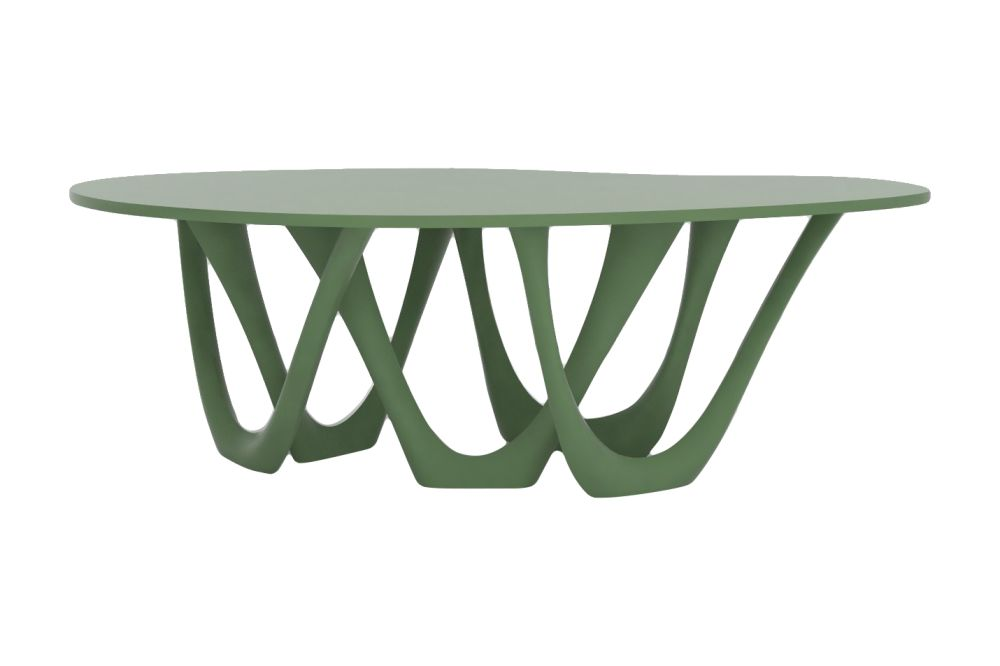 G-Table with Powder Coated Top and Base by Zieta