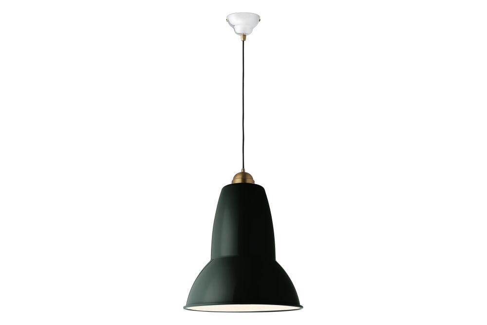 Original 1227 Giant Brass Pendant Light by Anglepoise