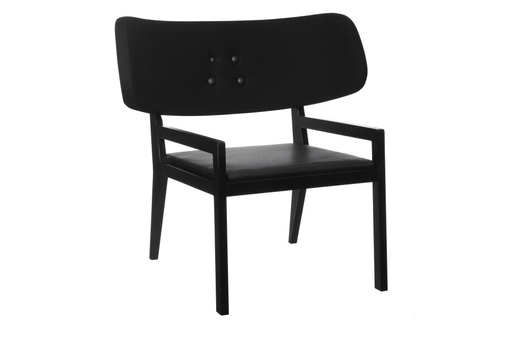 Cartoon Easy Chair with Leather Seat by Swedese