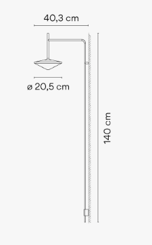 Tempo 5766 Wall Lamp by Vibia