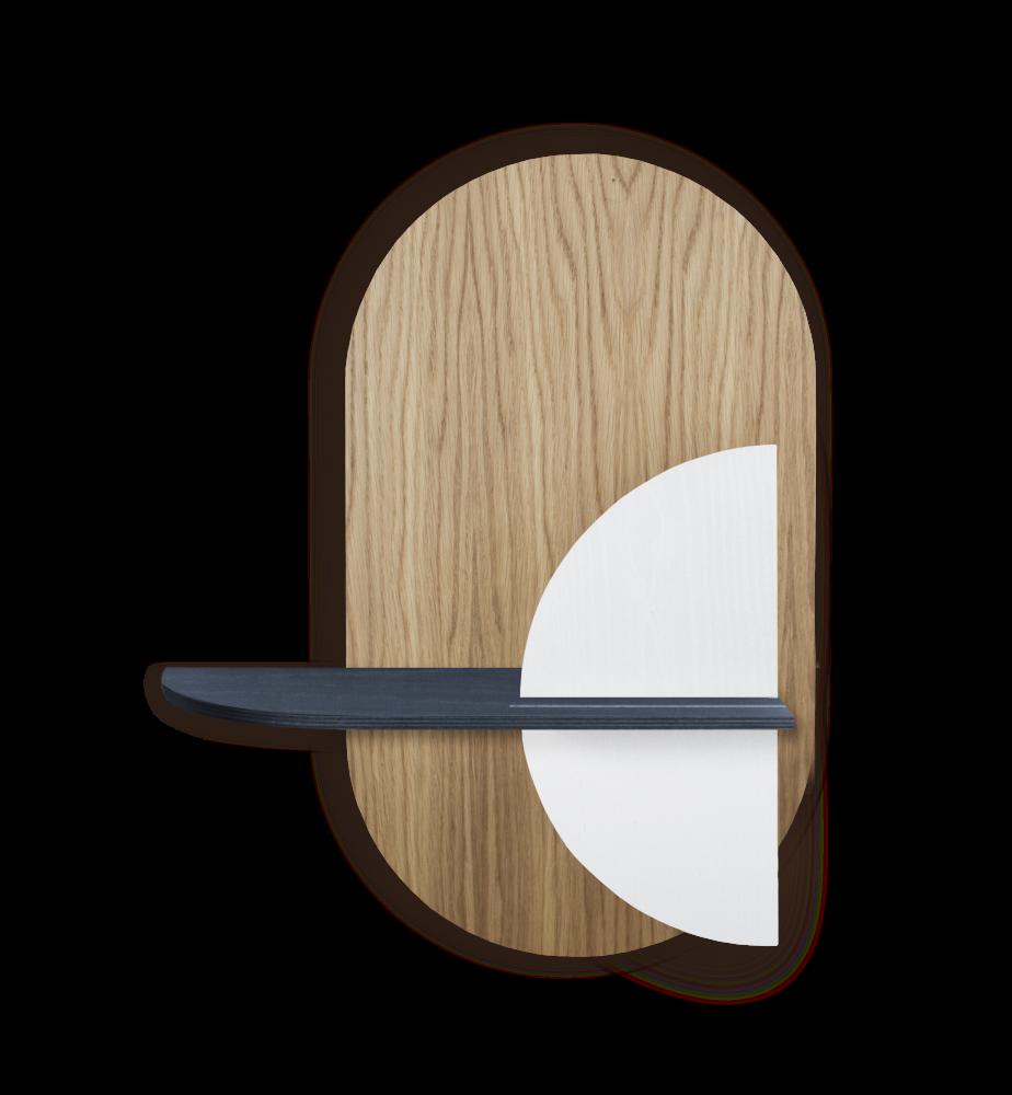 ALBA M - Oval. Modular wall shelf. Customizable. by WOODENDOT