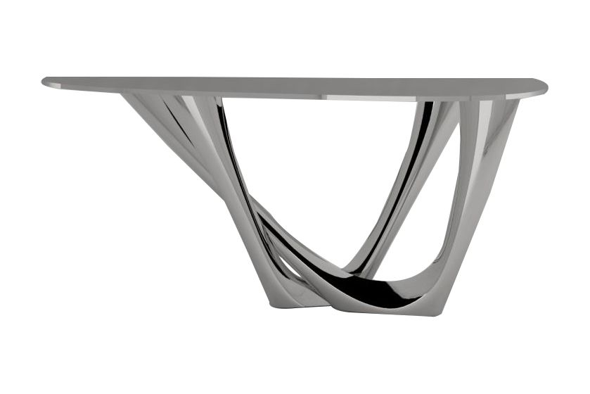 G-Console Duo Table with Inox Base by Zieta