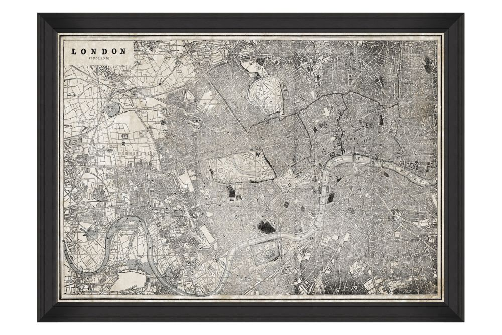 London Map Framed Art by Mind The Gap