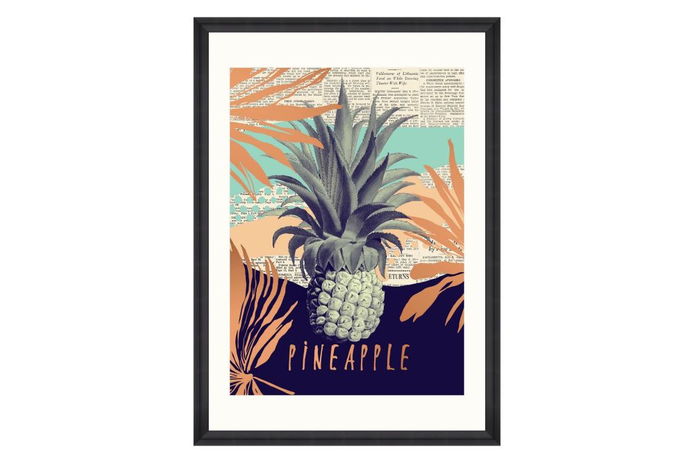 Be Pineapple Framed Art by Mind The Gap