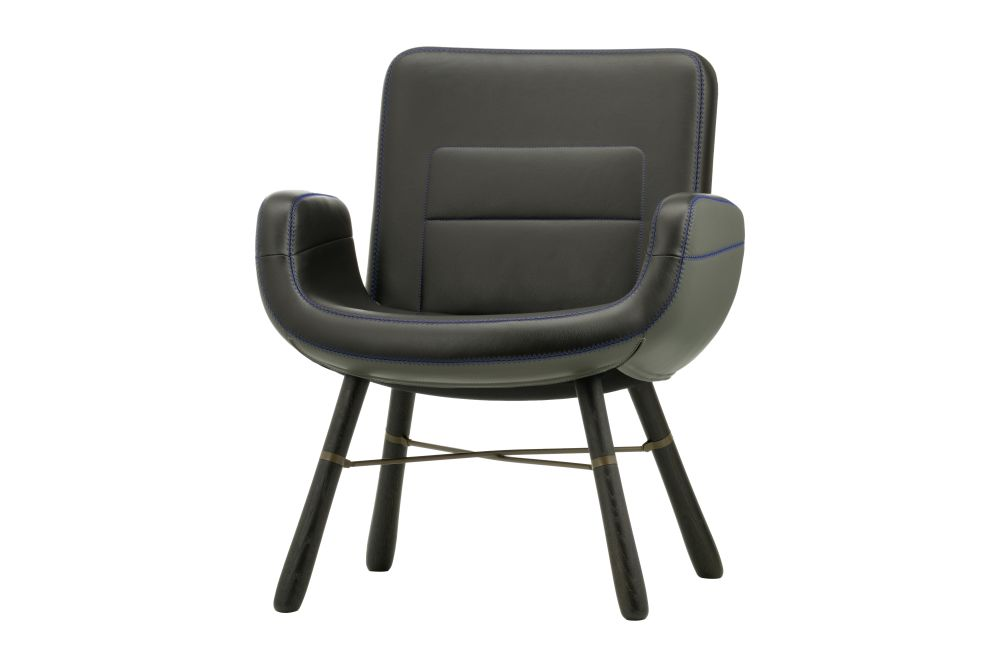 East River Leather Armchair by Vitra