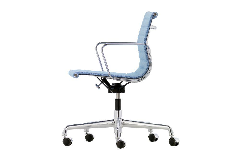 Aluminium EA 118 Chair with Medium - High Backrest and Swivel Base by Vitra
