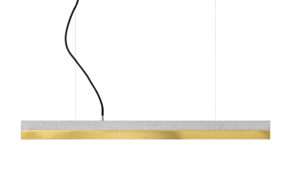 [C] Concrete & Brass Pendant Light (92cm or 122cm) by GANTlights