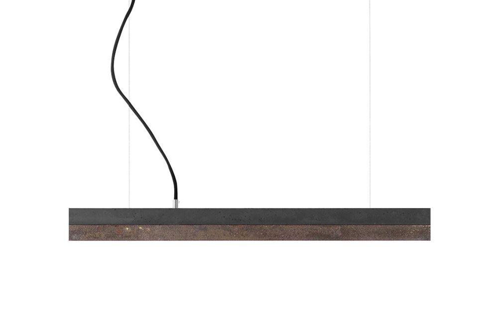 [C] Concrete & Corten Steel Pendant Light (92cm or 122cm) by GANTlights