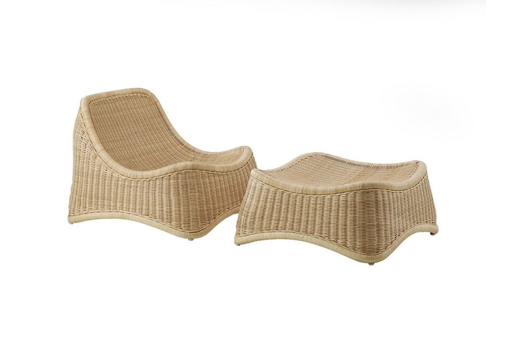Chill Indoor Lounge Chair with Stool by Sika Design