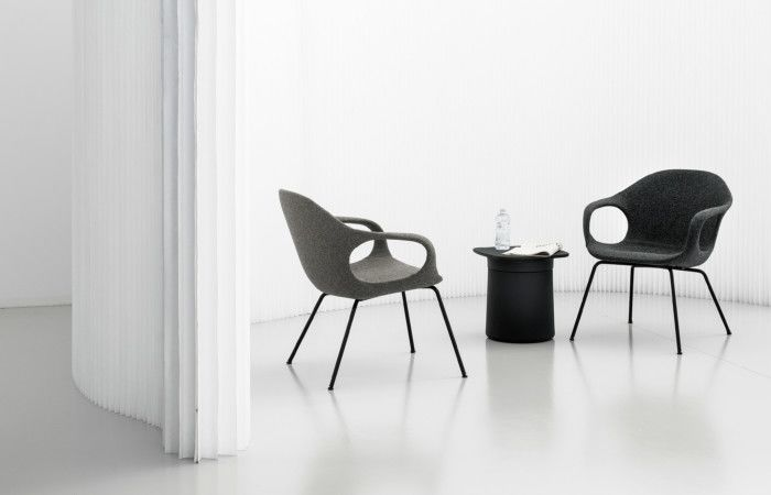 Elephant Lounge Armchair with Upholstered Seat by Kristalia