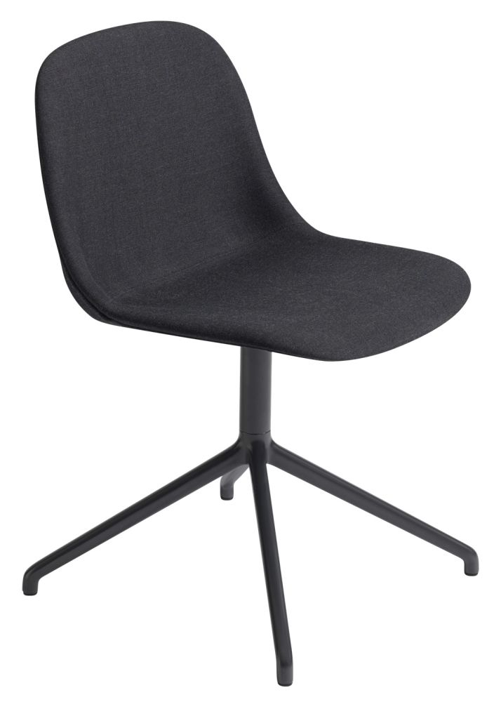 Fiber Side Swivel Base Chair With Return - Upholstered by Muuto