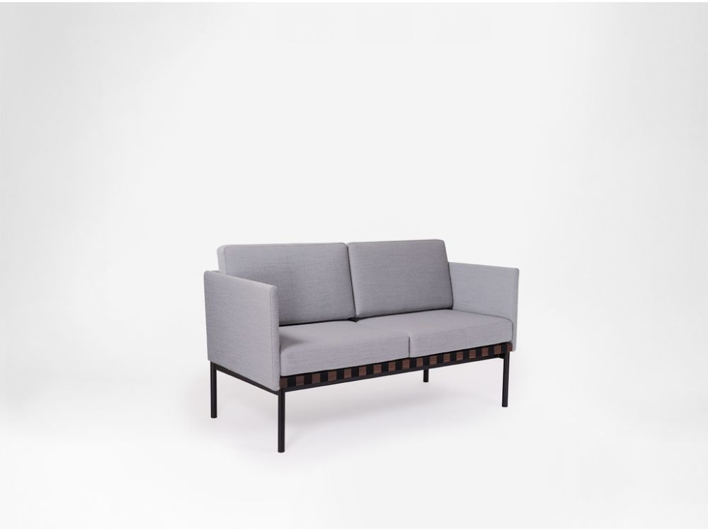 Grid - 2 Seater Sofa With Armrests by Petite Friture