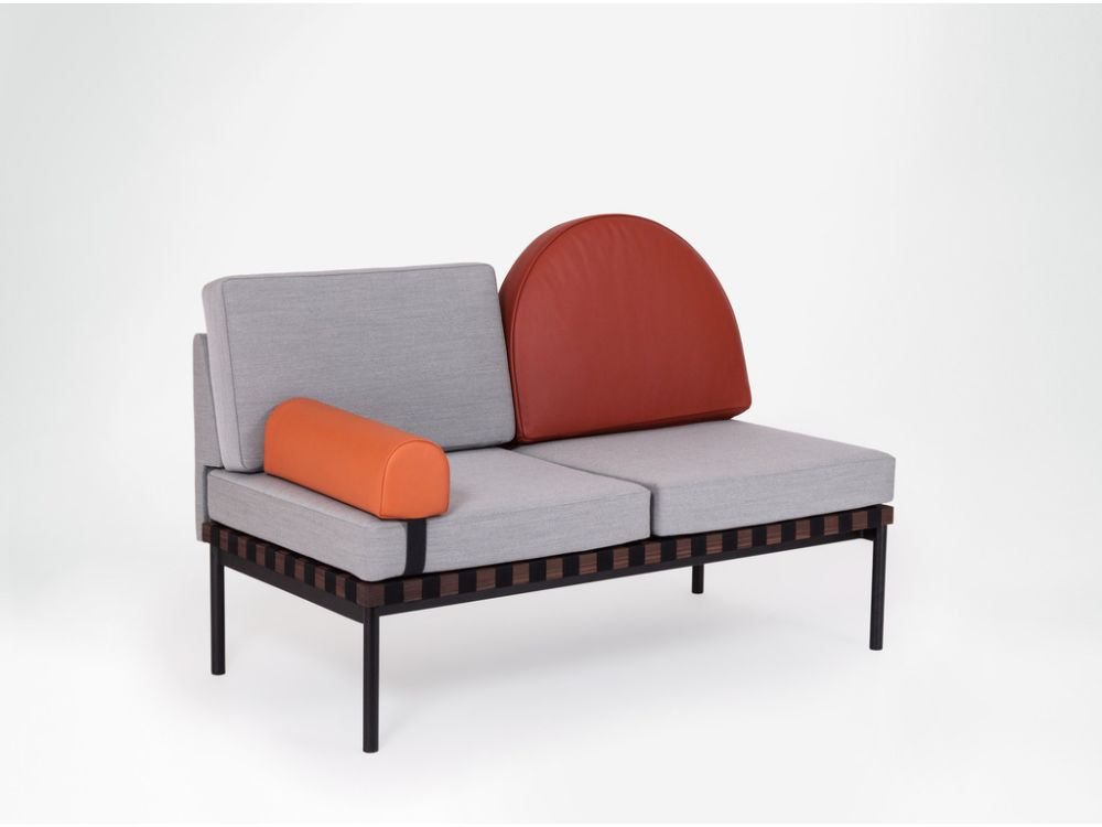 Grid - 2 Seater Sofa Without Armrests by Petite Friture