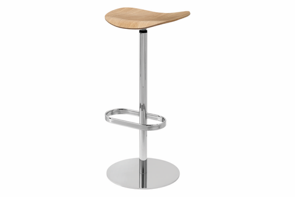 Gubi 2D Bar Stool Swivel Base- Unupholstered by Gubi