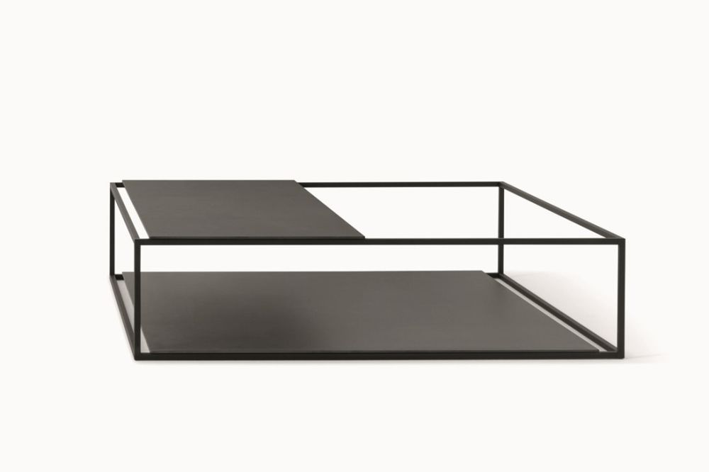Helsinki 15 Coffee Table with Upper Partial Top by Desalto