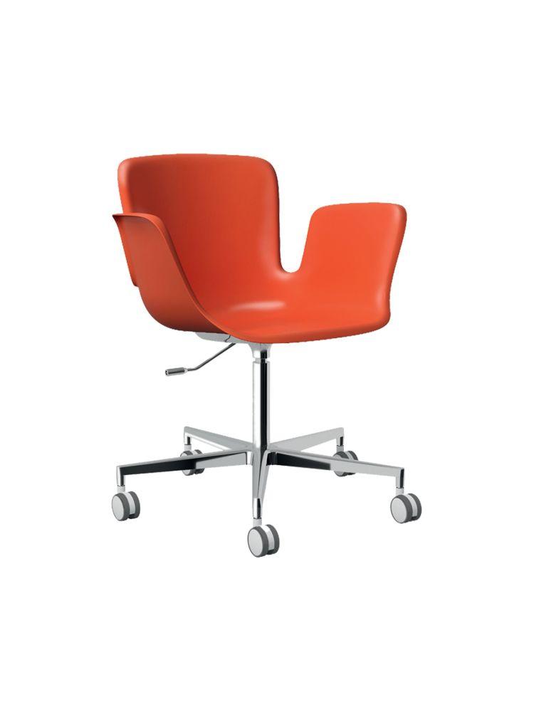 Juli Plastic Swivel Armchair 5-spoke on Castors - Height Adjustable by Cappellini