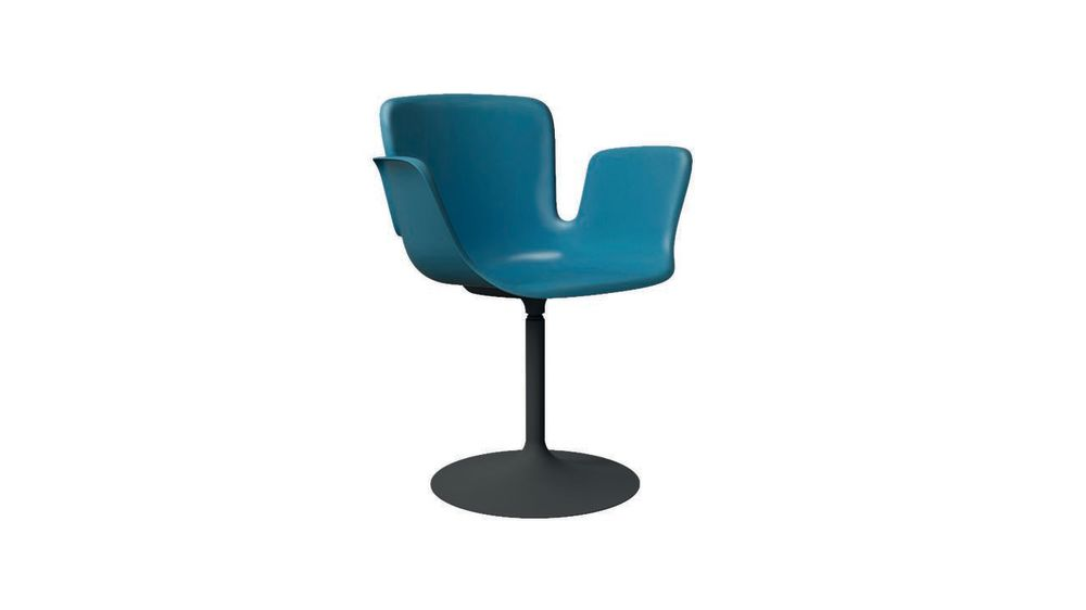 Juli Plastic armchair with column base by Cappellini