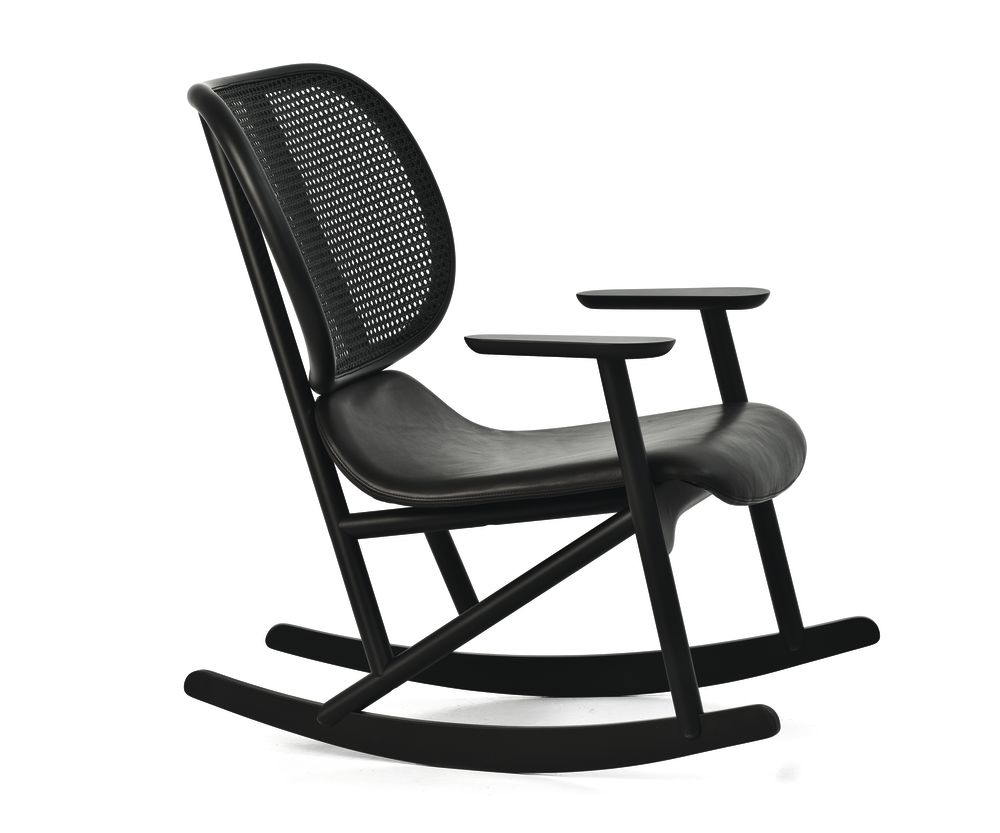 Klara Rocking Armchair with Cane Back - New by Moroso