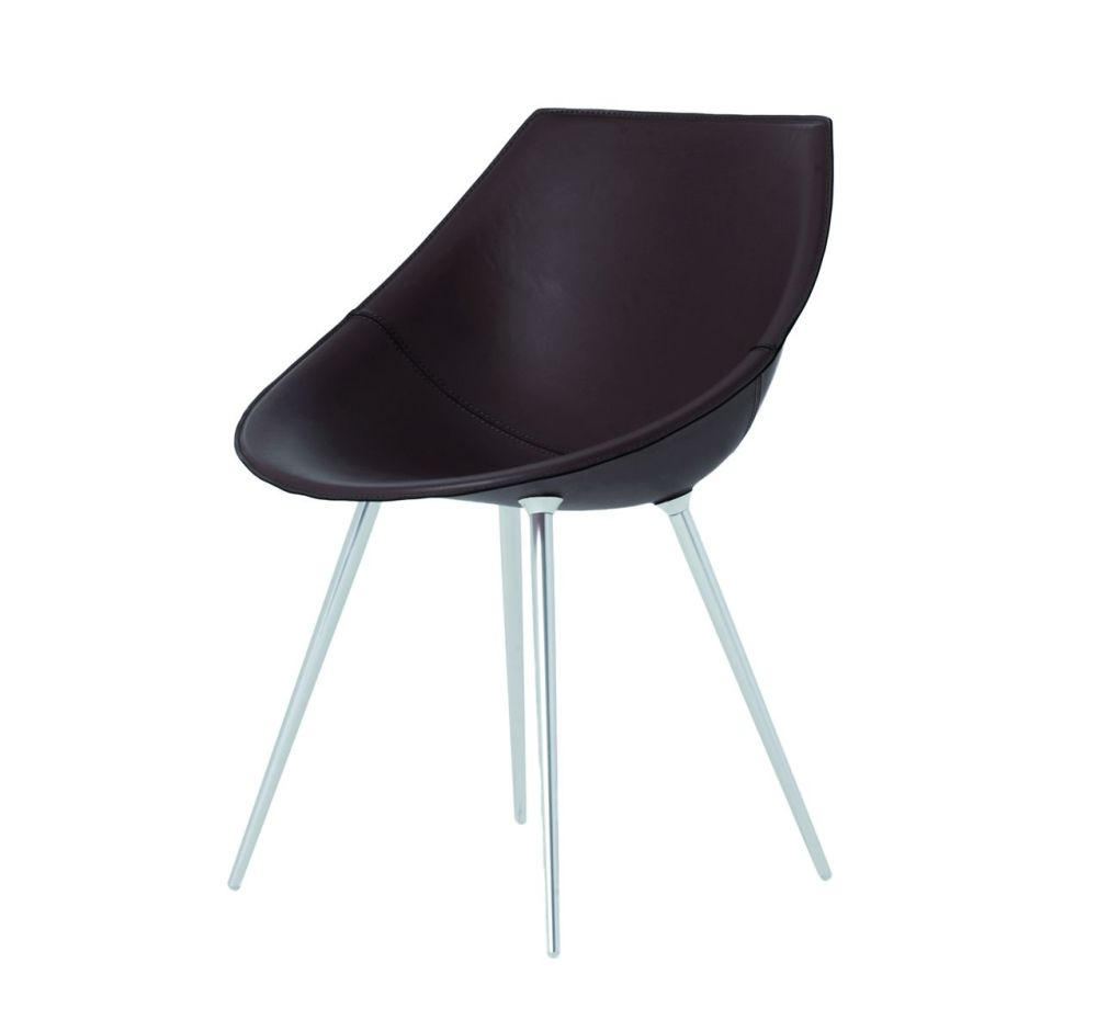 Lagò Chair with Leather by Driade