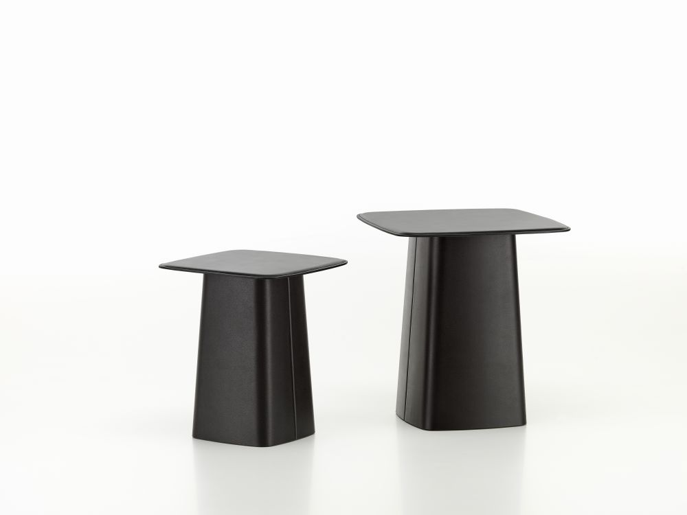 leather side table nero small by ronan erwan bouroullec for vitra - Leather Side Tables