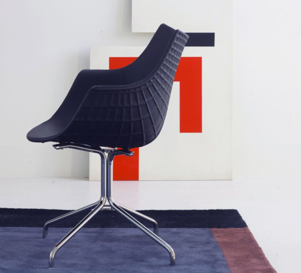 Meridiana Swivel Low Stool Upholstered by Driade