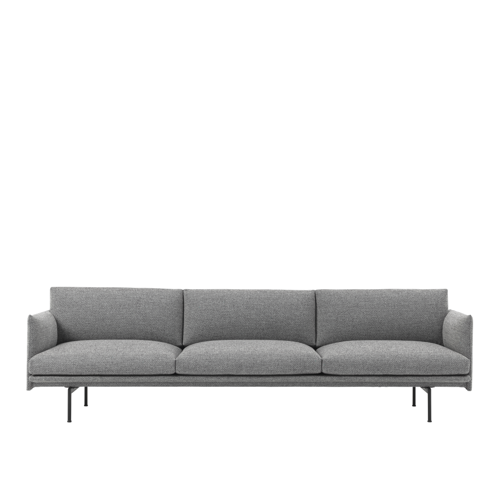 Outline 3 1/2-seater Sofa by Muuto