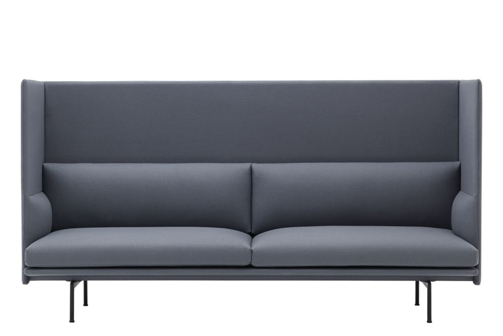 Outline Highback Sofa - 3 Seater by Muuto