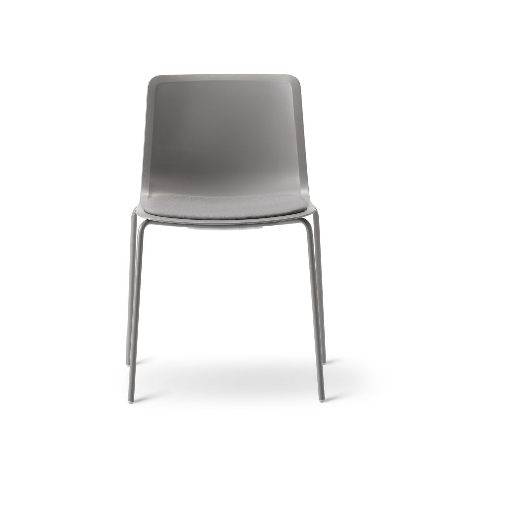 Pato 4 Leg Chair with Seat Upholstery by Fredericia
