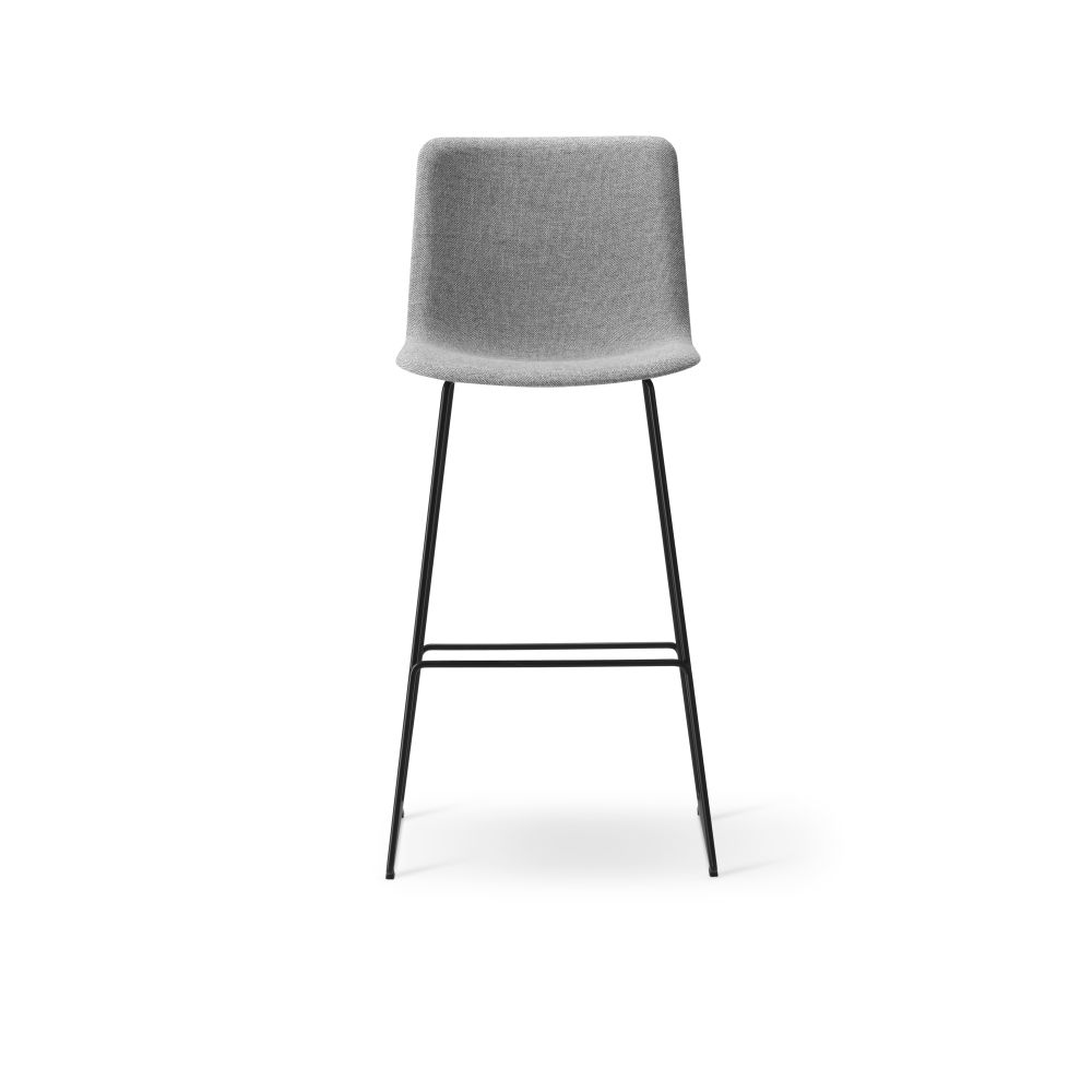 Pato Sledge Barstool Fully Upholstered by Fredericia