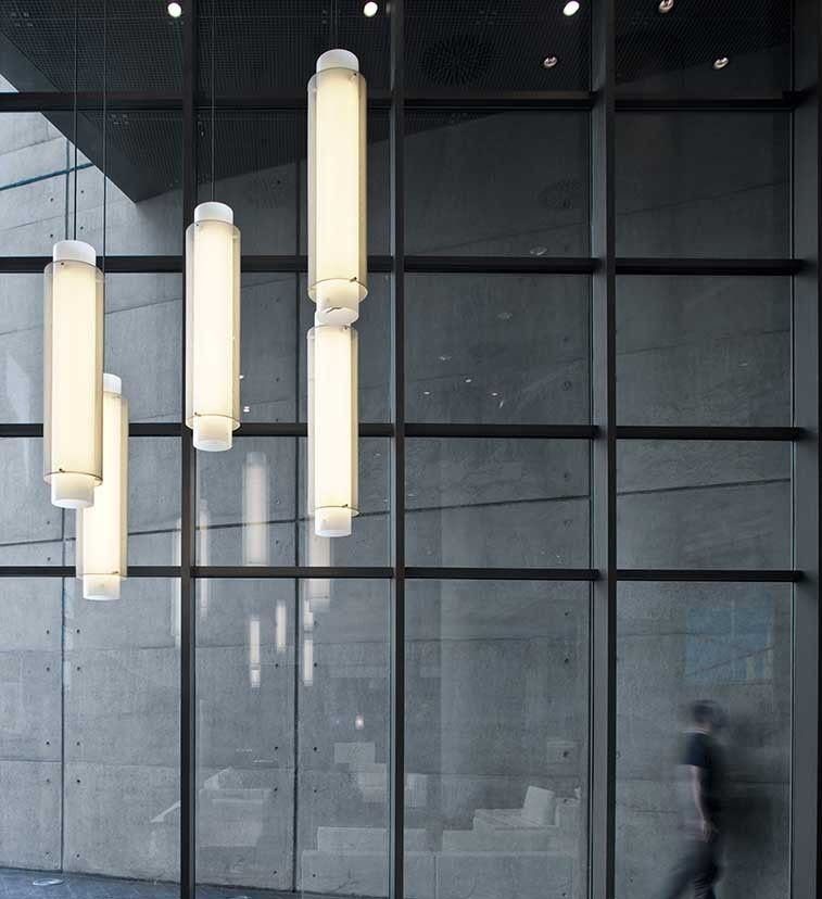 Skin Suspension Lamp by B.LUX