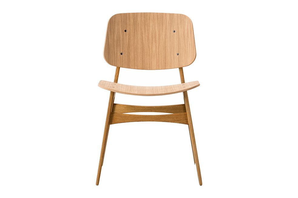 Soborg chair, wooden frame by Fredericia