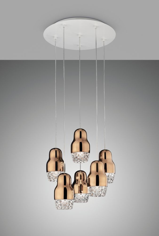 Sp fedor 6 pendant light rose gold glass by axo light aloadofball Images