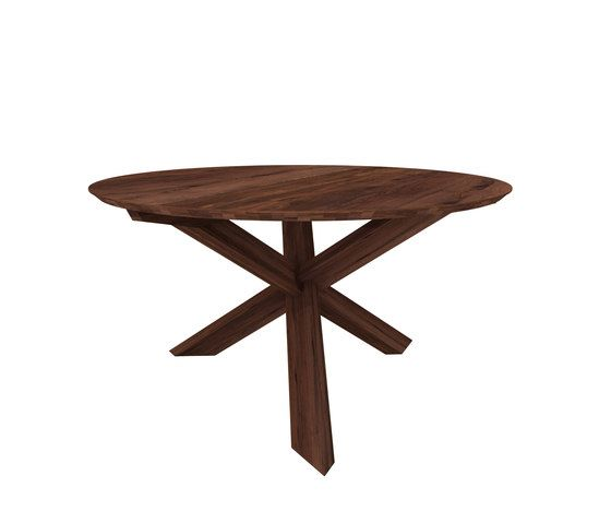 Teak Circle Dining Table by Ethnicraft