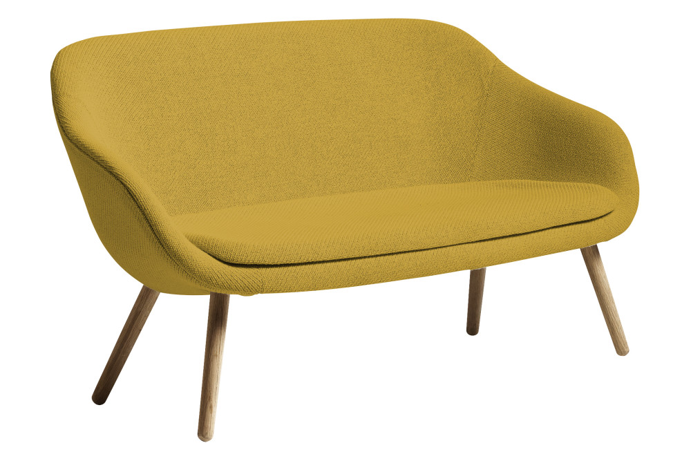 About a lounge sofa for comwell matt lacquered oak legs by hay