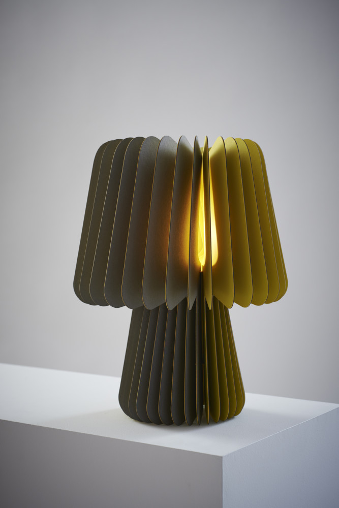 Beam Table Lamp - Smoke Grey & Factory Yellow